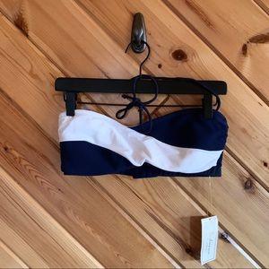 NWT Shoshanna Blue White Bikini Top D Cup Halter